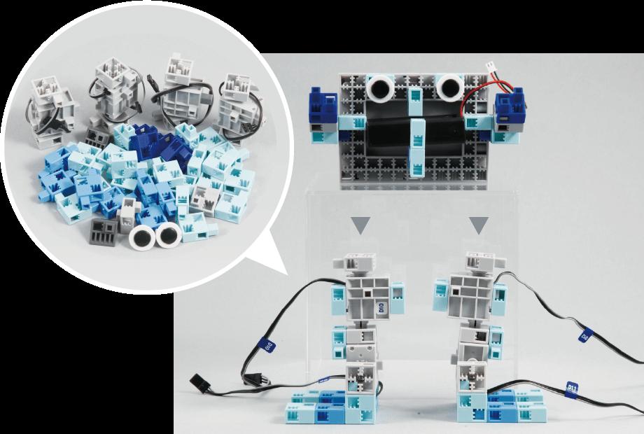 ロボットとブロック